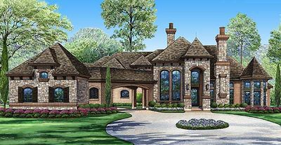 European estate home plan 36175tx architectural for European estate house plans