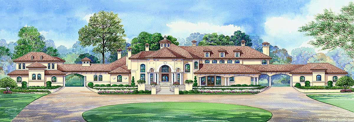 Luxurious manor home 36178tx architectural designs for 6000 sq ft home