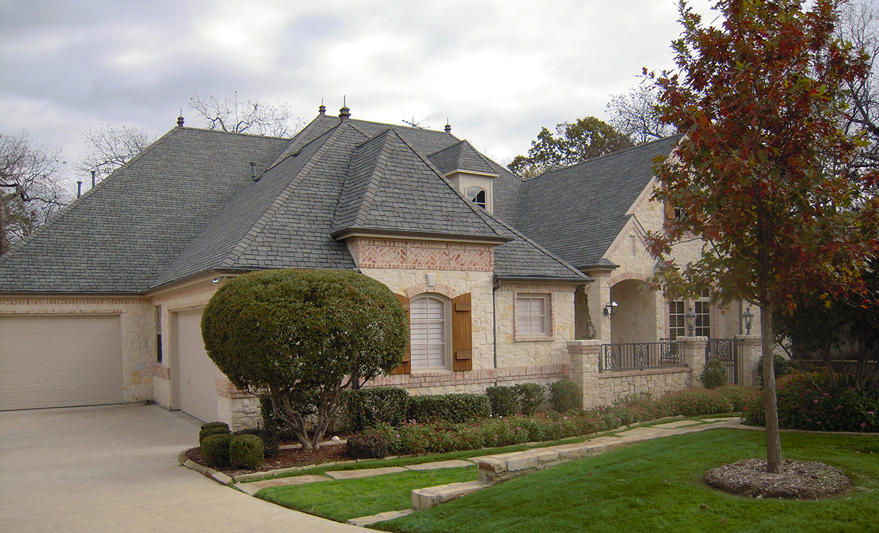 Architectural designs for French country courtyard