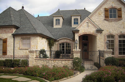 French Country Estate with Courtyard - 36180TX thumb - 01