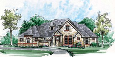 French Country Estate with Courtyard - 36180TX thumb - 08