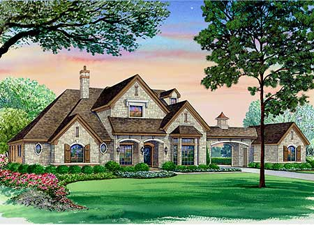 european elegance with portico 36195tx architectural ForHouse Plans With Portico Garage