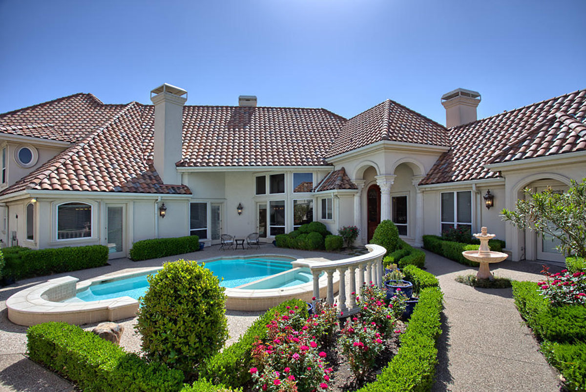 v shaped luxury home plan 36235tx architectural On architectural designs com luxury house plans