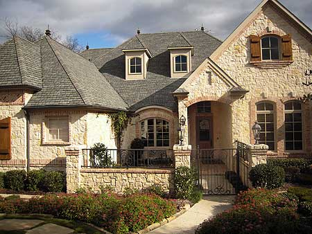 French country estate with courtyard 36180tx european for European estate house plans