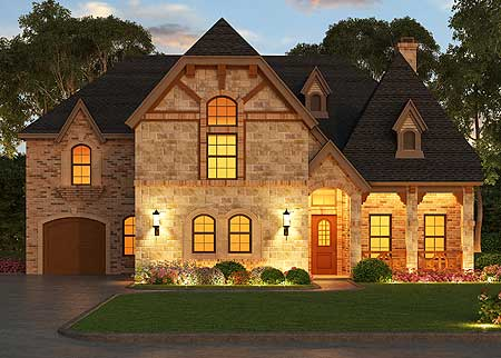 Impressive European Manor Home 36407tx Architectural