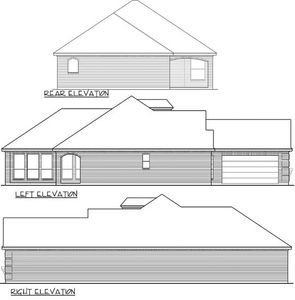 Zero lot line narrow house plan 36411tx architectural for Zero lot house plans