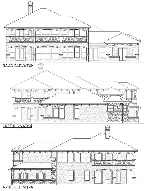 high end mediterranean house plan 36433tx 1st floor