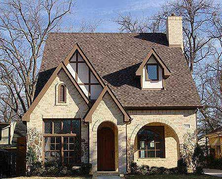 3 or 4 bed tudor for narrow lot 36446tx 2nd floor for Tudor cottage plans