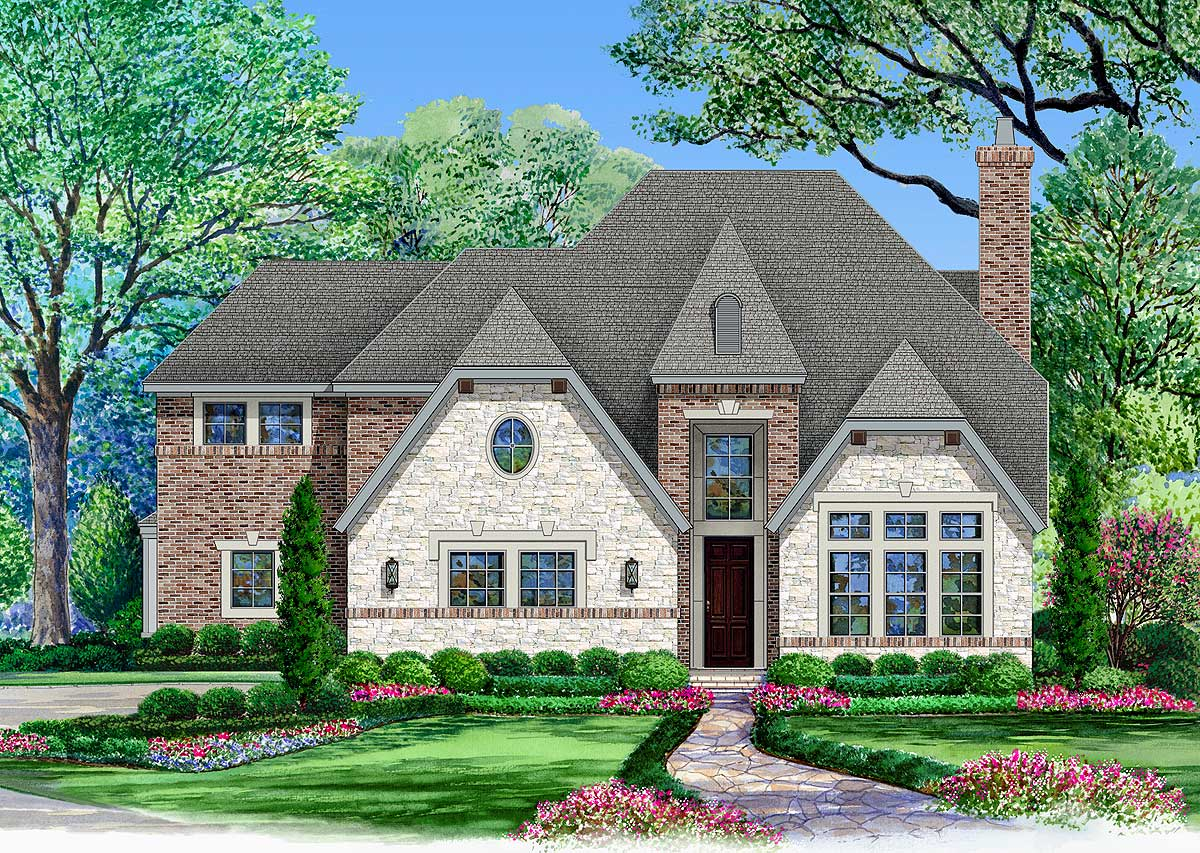 Clipped gable house plan with options 36471tx Gable house plans
