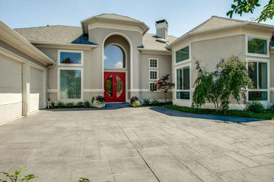 One Level Modern Mediterranean House Plan 36499TX Architectural