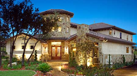 Casita with great outdoor spaces 36800jg architectural for Tuscan home plans with casitas