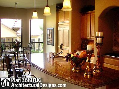 4 Bedroom Courtyard Living Home Plan - 36801JG thumb - 07