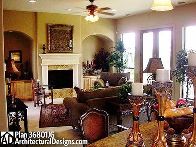 4 Bedroom Courtyard Living Home Plan - 36801JG thumb - 08