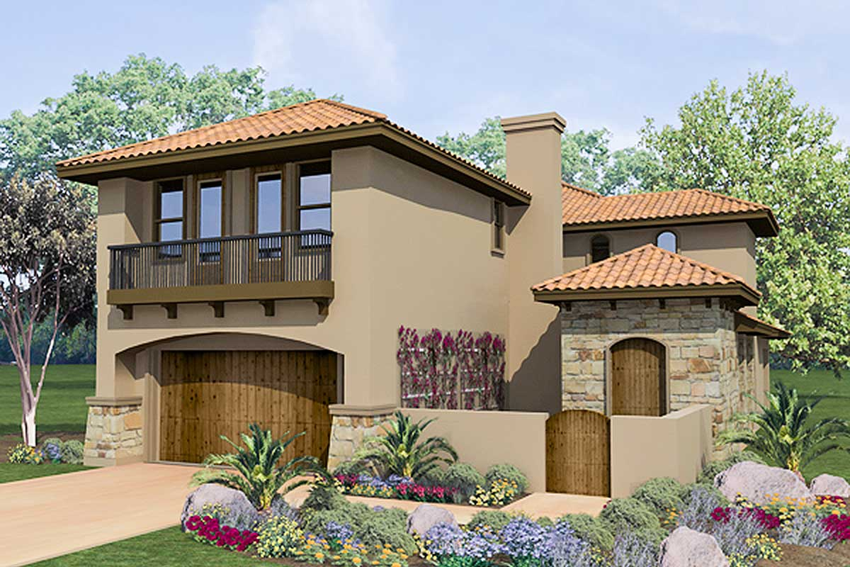 Spanish Courtyard Home Plan - 36817JG