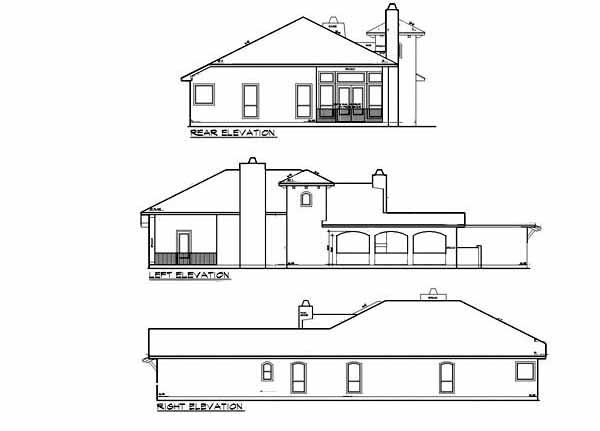 Narrow Lot Courtyard Home Plan 36818jg 1st Floor