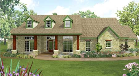 Hill Country Home Plan 36821jg 1st Floor Master Suite