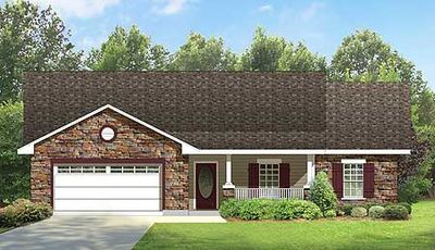 Split bedroom ranch house plan 36837jg architectural for Ranch home floor plans split bedrooms