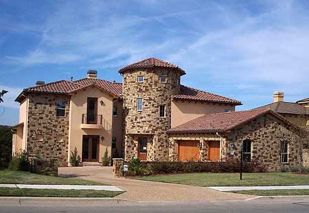 Tuscan home plan with towering rotunda 36849jg 1st for Tuscan roof house plans