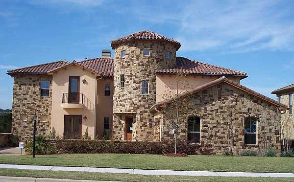 Architectural designs for Tuscan roof house plans