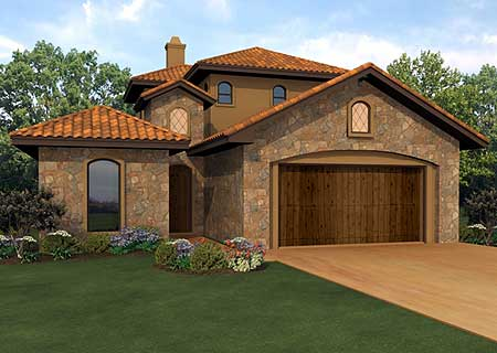 Courtyard and casita 36853jg 1st floor master suite for Casita home plans
