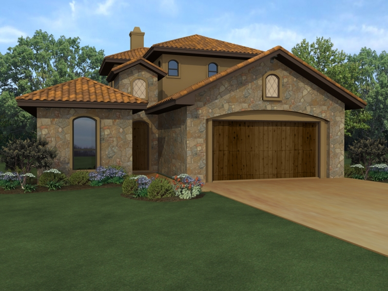 Courtyard and casita 36853jg architectural designs for Casita plans for homes