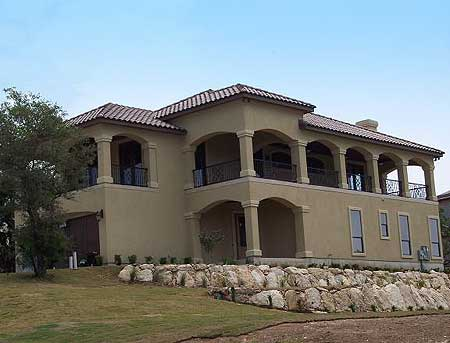 Spanish style home with covered balconies 36857jg 2nd for 2nd floor balcony designs