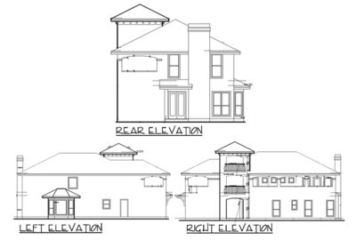 Mediterranean Home Plan with Tower Room - 36858JG thumb - 04