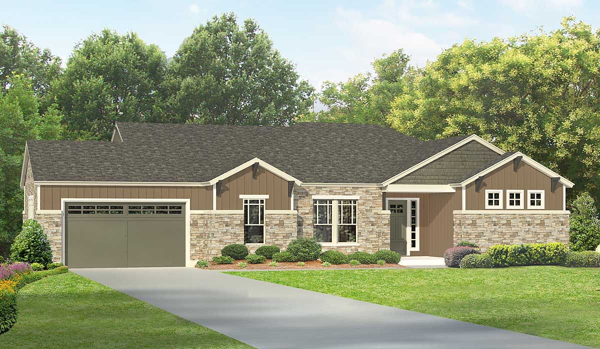 Northwest ranch home with flex space 36905jg for Nw house plans