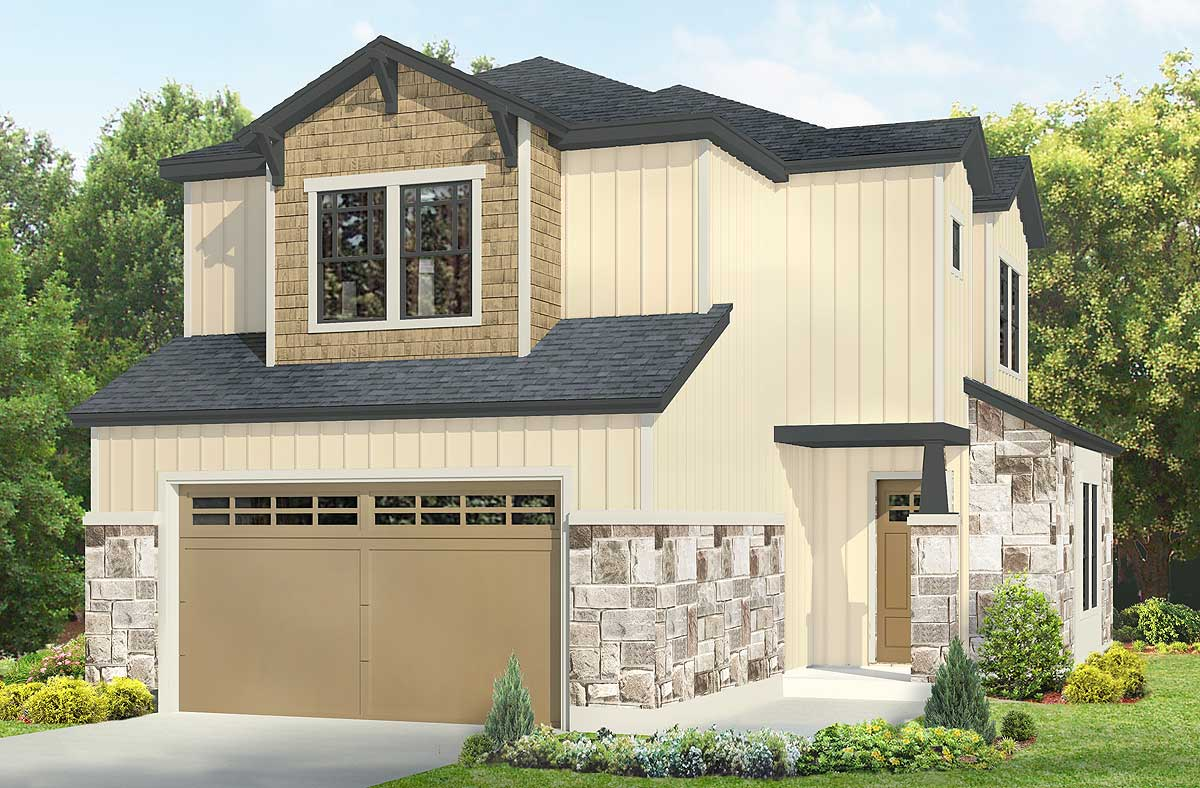 Board And Batten 3 Bed House Plan 36908jg 2nd Floor