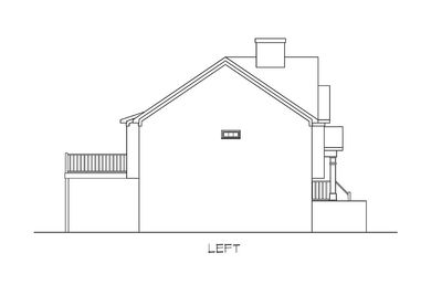 Stylish Split-Level Home Plan - 3694DK thumb - 03
