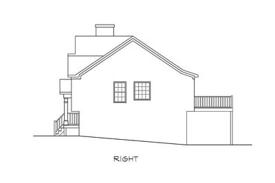 Stylish Split-Level Home Plan - 3694DK thumb - 04