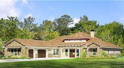 One Level Mediterranean House Plan 36940JG Architectural Designs