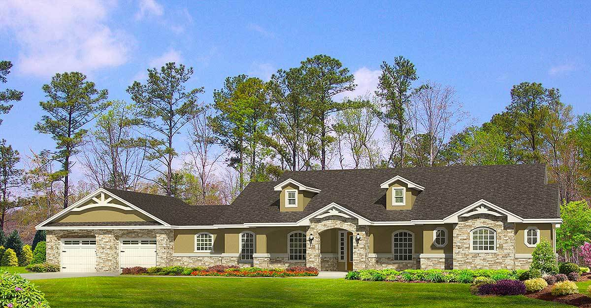 Hill country ranch home 36947jg architectural designs for Hill country house designs