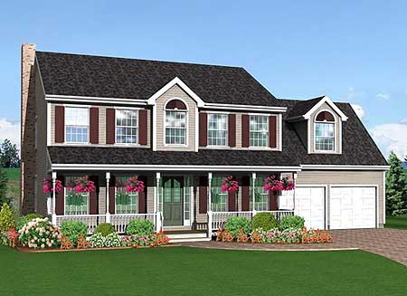 Timeless farmhouse style 3712tm 2nd floor master suite for Timeless house plans