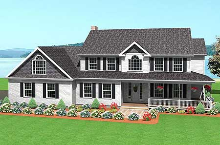 Two story home plan with lavish touches 3713tm for 2 story farmhouse