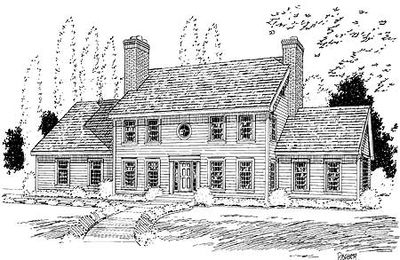 colonial house plans. Classic Colonial House Plan - 3723TM Thumb 01 Plans