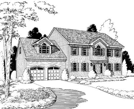 Modern Colonial 3726tm Architectural Designs House Plans