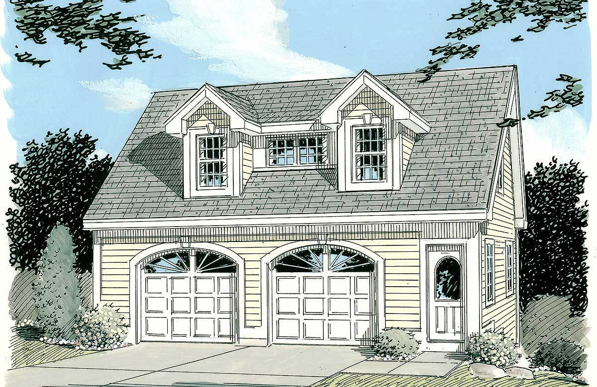 Simple carriage house plan 3792tm architectural for Large carriage house plans