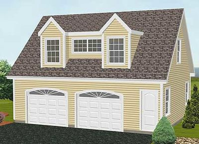 Simple Carriage House Plan - 3792TM thumb - 02