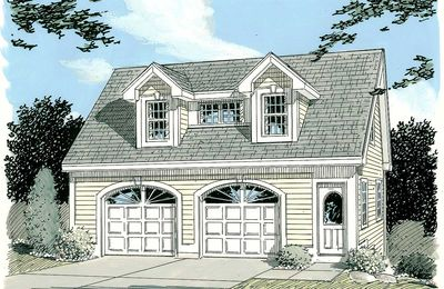 Simple Carriage House Plan - 3792TM thumb - 01
