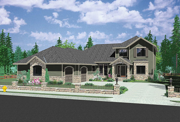 Northwest house plan with atrium 38004lb architectural for Nw home design