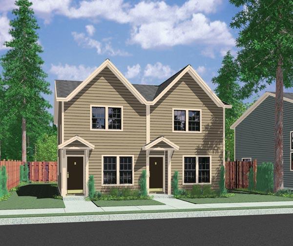Duplex for Your Narrow Lot 38006LB