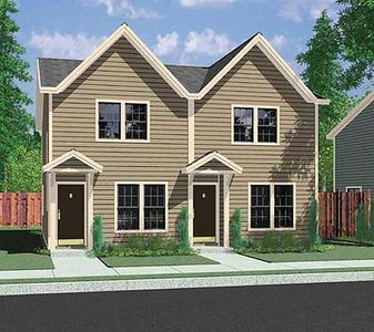 Duplex for your narrow lot 38006lb architectural for Narrow lot modular homes