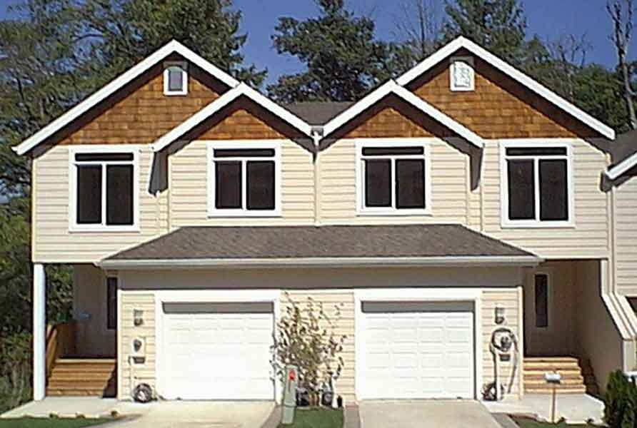 Duplex house plan with walkout basement 38010lb 2nd Narrow lot duplex