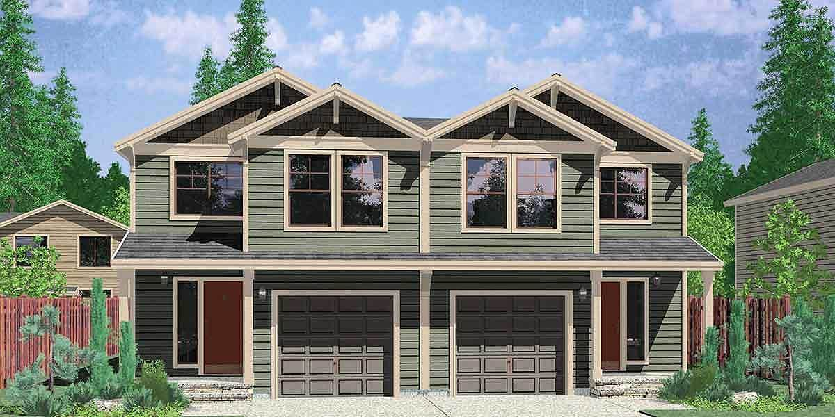 2 family home plan with 4 beds 38015lb 2nd floor for 2 family house plans narrow lot