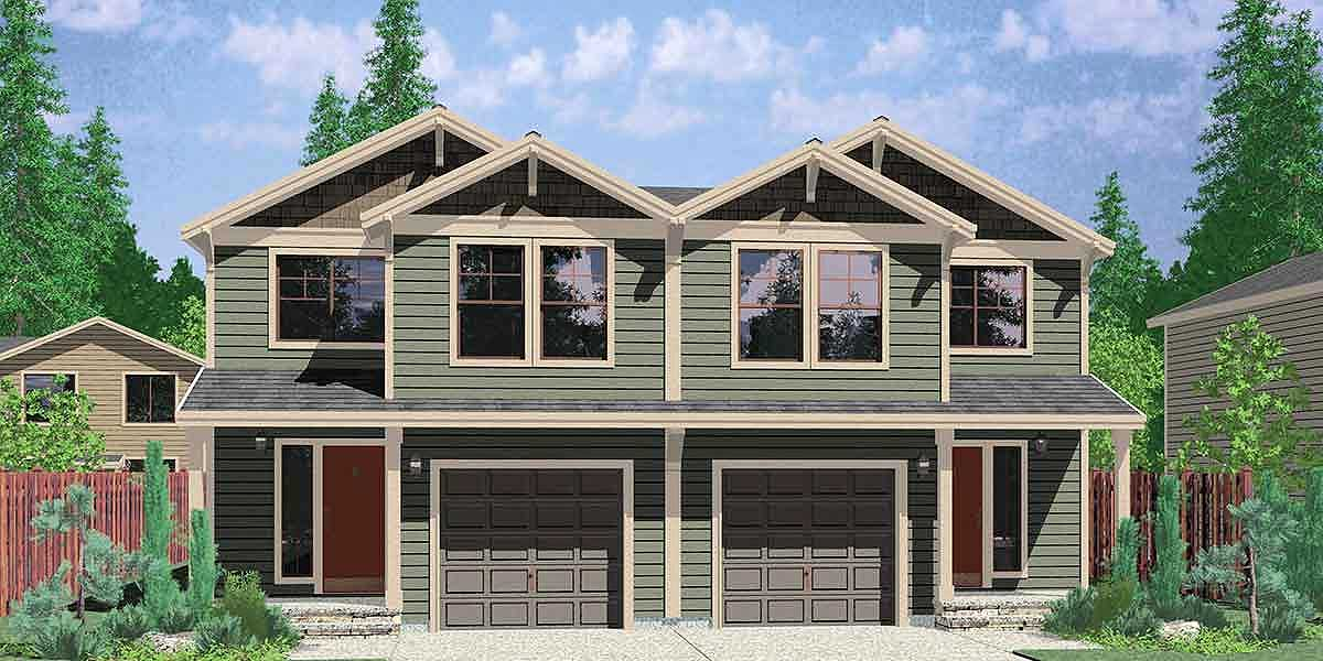 2 family home plan with 4 beds 38015lb architectural for 4 family house plans