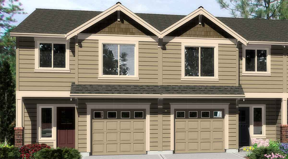 Duplex with matching 20 39 wide units 38016lb for Duplex units