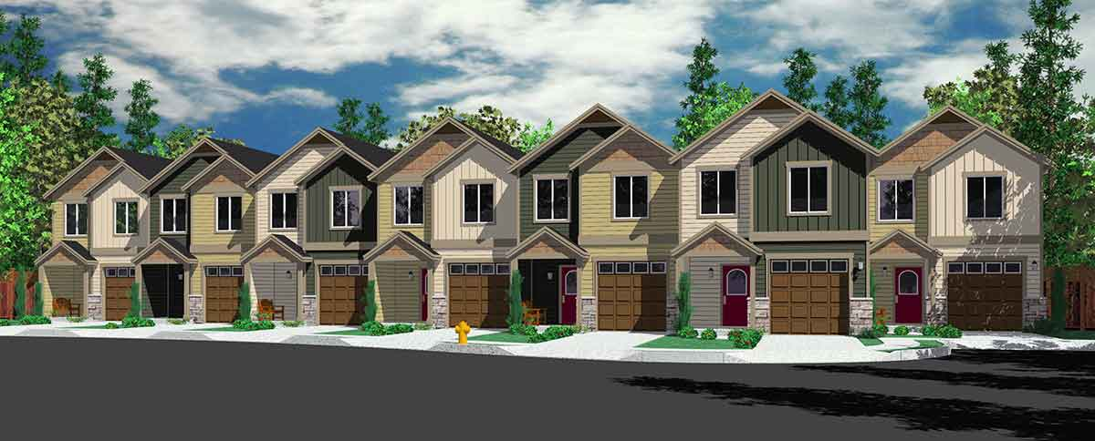 Seven Plex House Plan With Open Living Area 38026lb