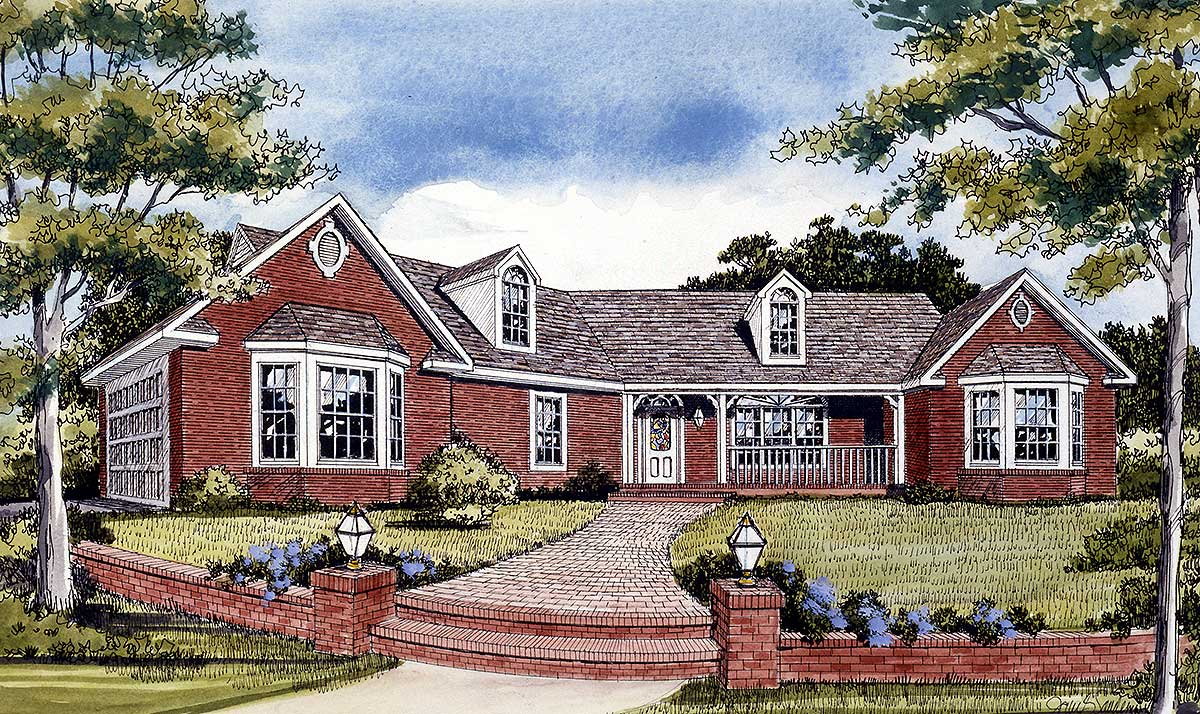 Angled country ranch 3823ja architectural designs for Ranch country home plans