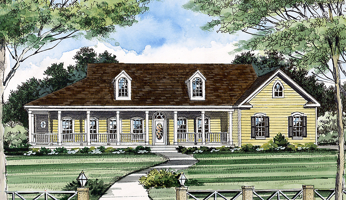 Country living 3826ja architectural designs house plans for Country living house plans